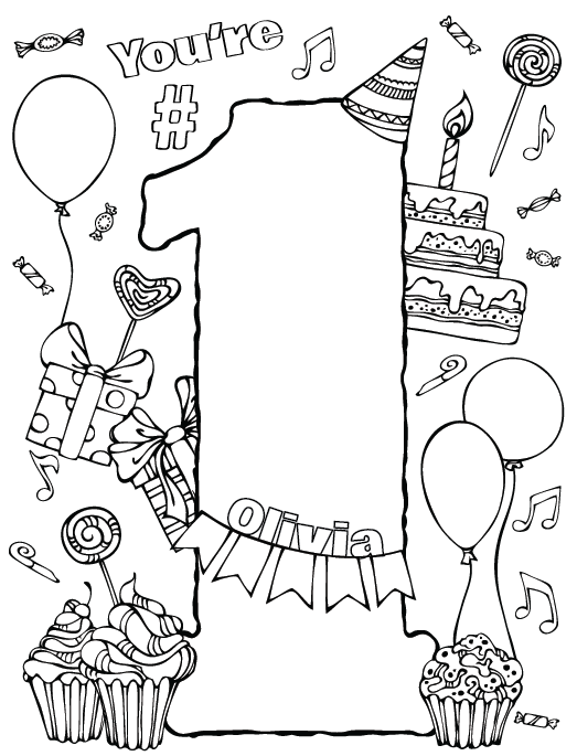Awesome Birthday Coloring Book Photos - New Coloring Pages ...