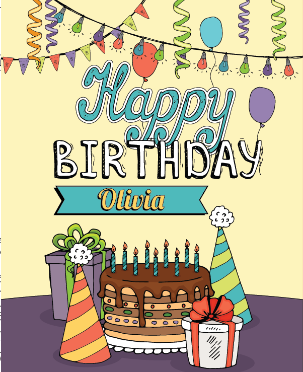personalized happy birthday coloring book