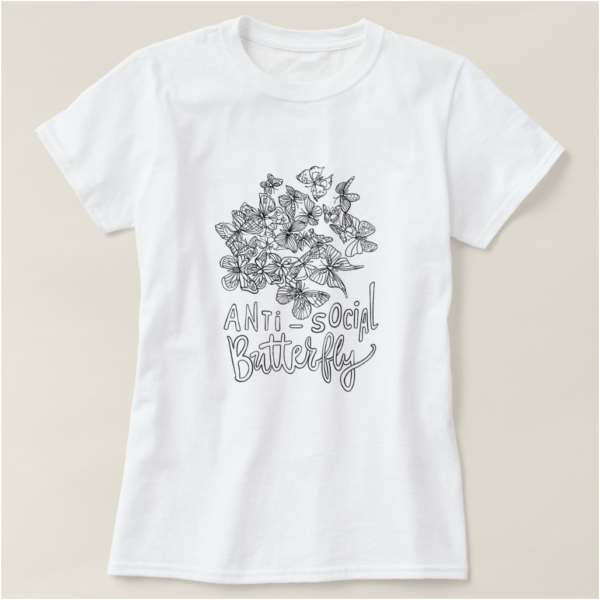 Anti-Social Butterfly Introvert T-Shirt