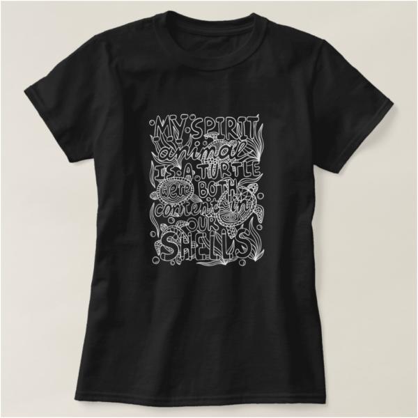 My Spirit Animal Is a Turtle Introvert T-Shirt